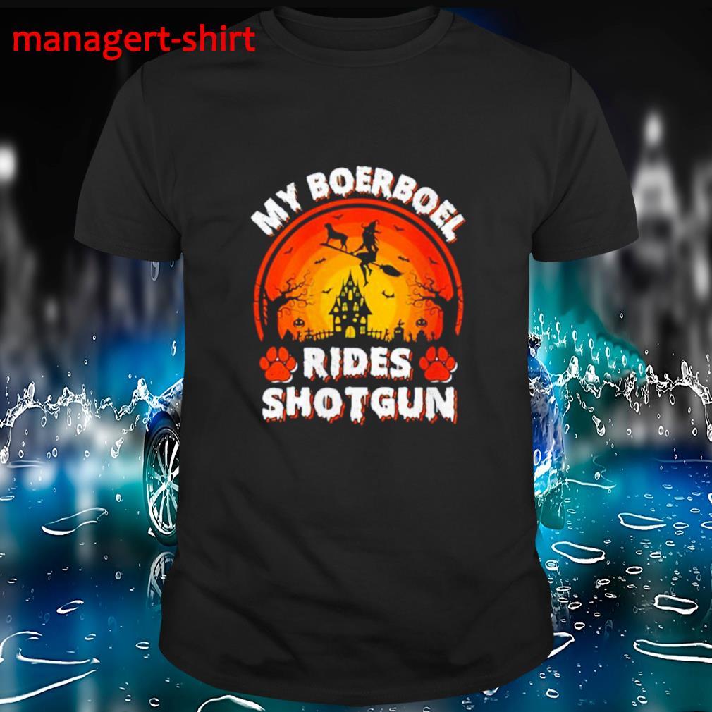 My Boerboel Rides Shotgun Halloween T-Shirt Masswerks Store