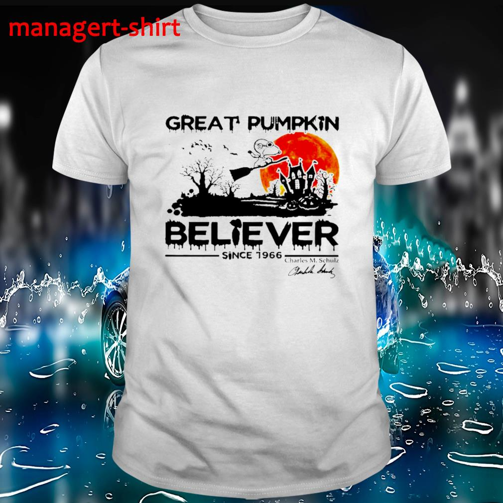 Great pumpkin believer since 1966 Charles M Chulz shirt