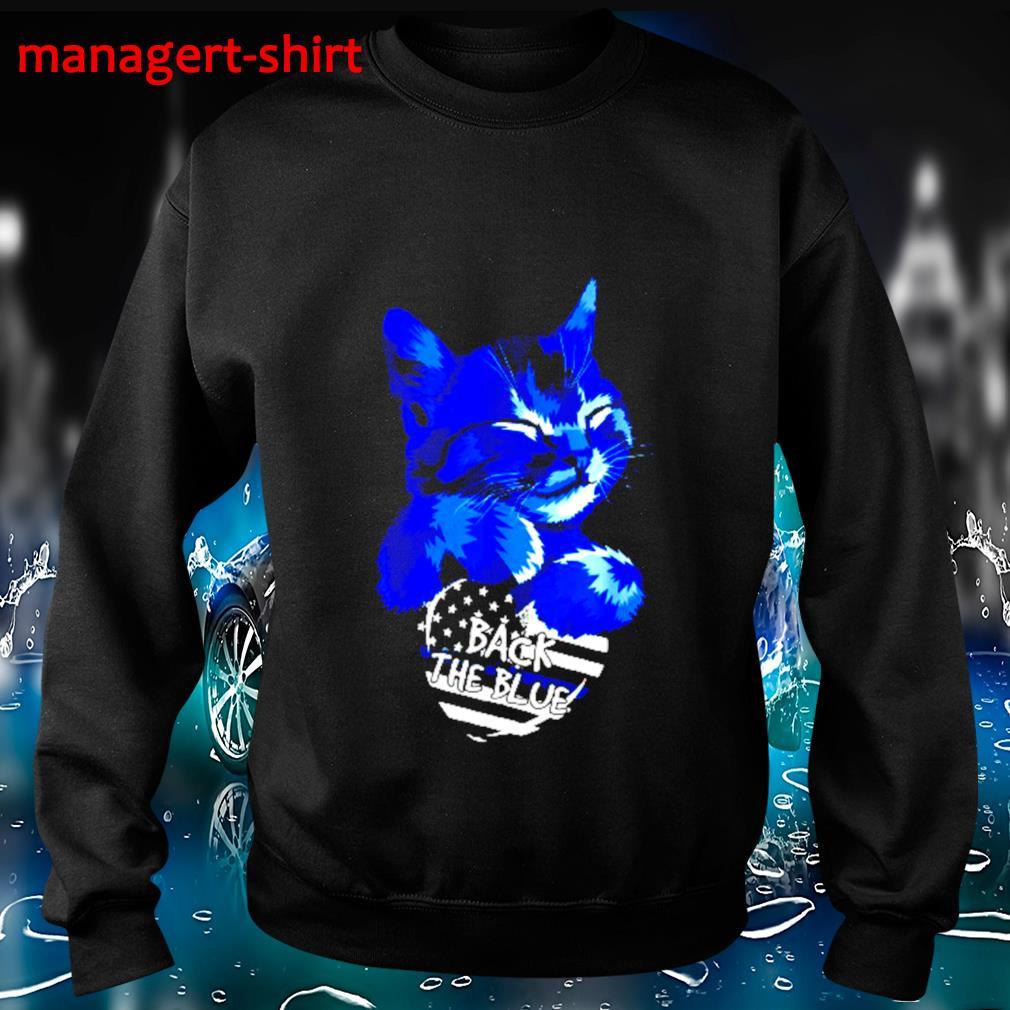 Cat Hug heart back the blue s Sweater