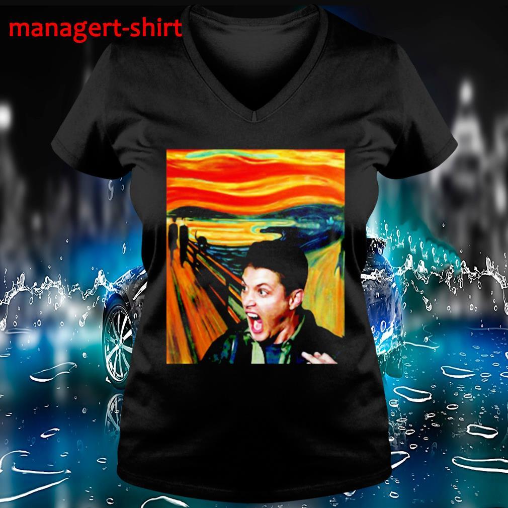 Dean Winchester scream painting s V-neck t-shirt