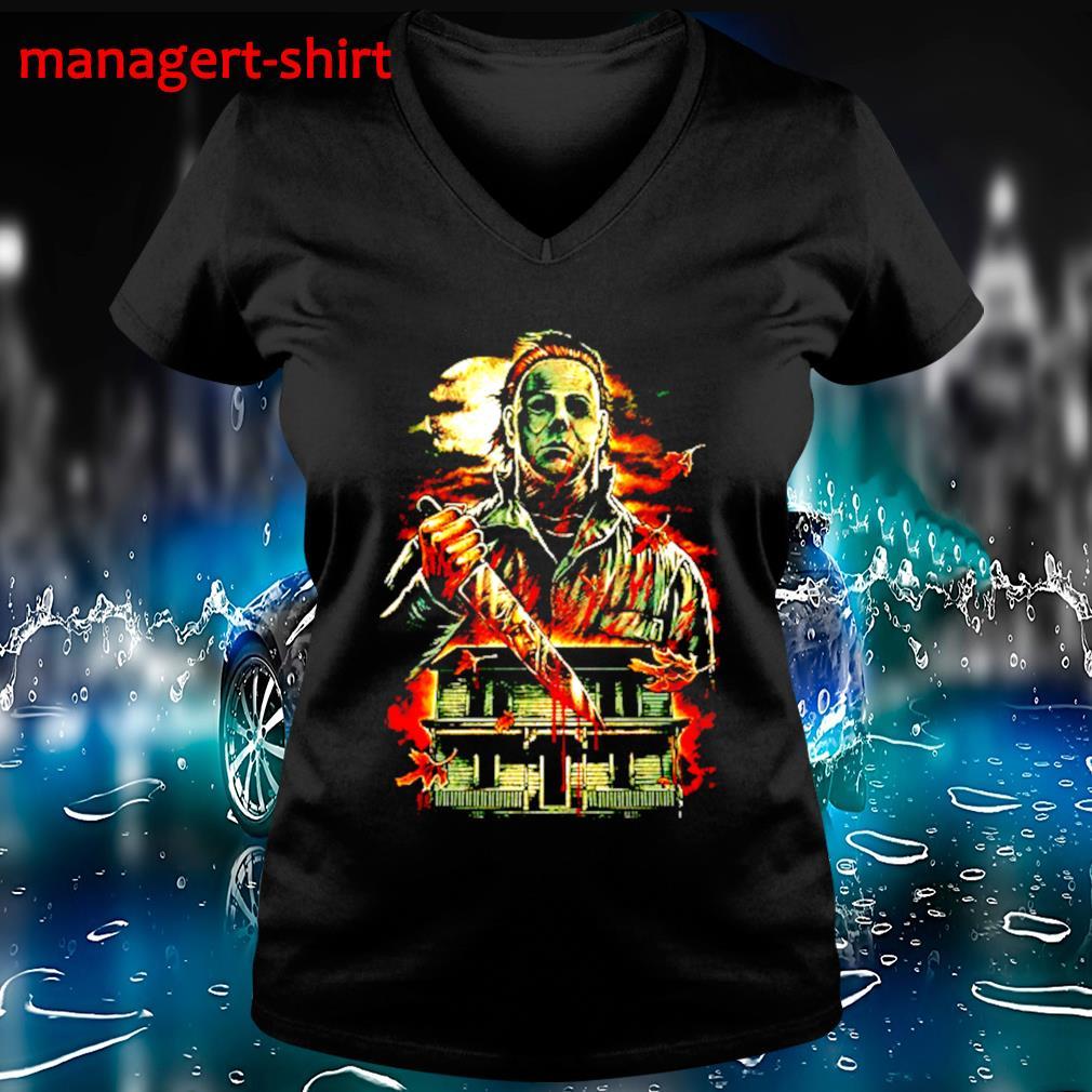 Jackson Voorhees Halloween s V-neck t-shirt
