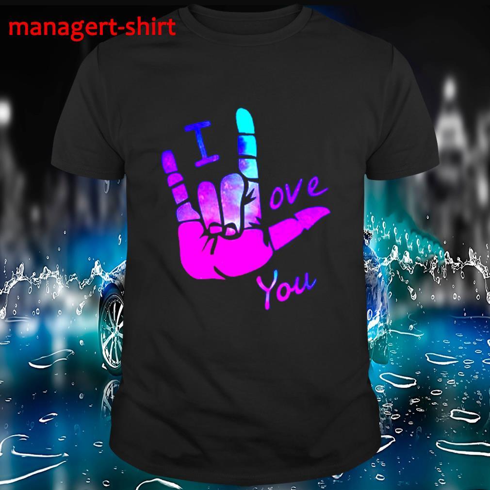 Sign language I love you shirt